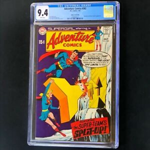 Adventure Comics 382 💥 CGC 9.4 PEDIGREE 💥 Superman Robot Teacher DC Comic 1969