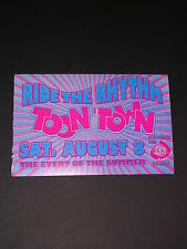 RIDE THE RHYTHM TOON TOWN SAN FRANCISCO Concert Postcard Handbill by REAL EVENTS