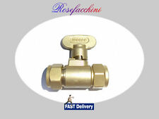 Gas Tap Shut Off Isolator Static Home 15mm Manifold Brass Water Oil Liquid Lpg