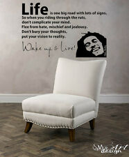 BOB MARLEY WAKE UP WALL DECAL VINYL LETTERING sticker quotes motivation music