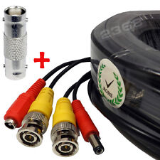 Power & Video Cable for Security CCTV Black 50ft use/Zmodo/Swann/Qsee/Lorex