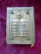 JUDAICA HEBREW BIBLE BOOK STERLING SILVER PRECIOUS STONES important presentation