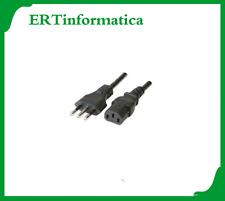 CAVO ALIMENTAZIONE PC E MONITOR CON PRESA ITALIANA 1.5 MT METRI 3 POLI