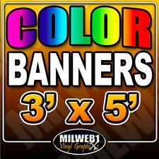 3x5 Custom Vinyl Banner, 13oz FULL COLOR (36
