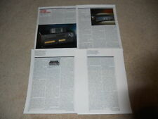 Yamaha Review, Hx-1000 Amp,Cx-1000 Preamp, 4 pg, Info