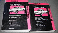 1994 Toyota T100 T 100 TRUCK PICK UP Service Shop Repair Manual Set OEM 94 BOOK
