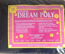 """Black Quilt Batting Quilters Dream Select Poly Mid Loft Queen Roll 93"""" X  30 yds"""