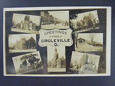 Circleville Ohio Multiview Main Street Courthouse Real Photo Postcard RPPC 1911