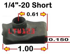 "(20) 1/4""-20"" Short  Extruded/Speed  ""U"" Nut"