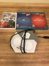 Wii U Disney Infinity 1.0 2.0 3.0 Game Lot with Base Portal No Figures