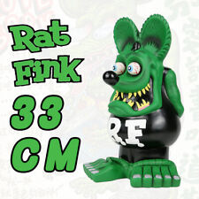 "13"" Green Black RAT FINK Action Figure  Big ""Daddy"" Ed  Roth Statue Model Toy"