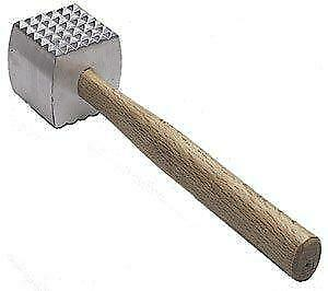 Extra Large Heavy-Duty Meat Tenderizer Mallet, Double-sided, Commercial-Grade Ha