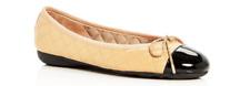Paul Mayer Attitudes Best Patent Black/Nappa Beige Ballet Flat Women sizes 5-11