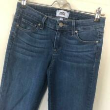 Women's Paige Verdugo Ultra Skinny Jeans 26 x 29 Med Wash Mid Rise Whiskers