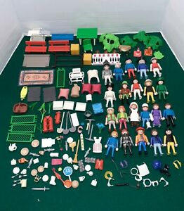 Huge Playmobil Action Figures Accessories Knights Vintage Junk Drawer Lot 1970s