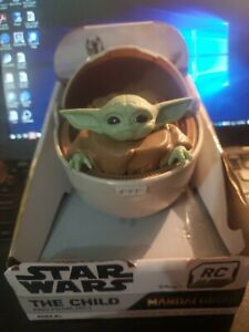STAR WARS THE CHILD GROGU AND PRAM Hover Pod Carrier. RC 27 MHz The Mandalorian