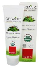Radius, Organic Coconut Toothpaste, Mint Aloe Neem, 3 oz