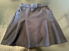 Nautica Kids Girls School Uniform Scooter Skirt/Shorts Navy Blue Size 12, Euc