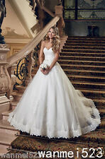 Church A-Line Lace Wedding Dress Princess Sweetheart Sash Lace Up Bridal Gown