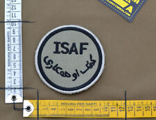 "Ricamata / Embroidered Patch ""ISAF UK"" Coyote Tan with VELCRO® brand hook"