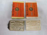 Vintage Needle Packets Assorted Antique Flora MacDonald Millwards x 4