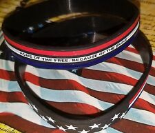 USA flag support Silicone Bracelet Wristband. Military servants Independence day