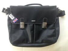 Storm Selby Black Satchel Bag Messenger Mens Business Office Faux Leather