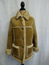 Women's Texan Rancher Brown Sheepskin Shearling Coat Size 12