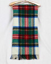 JAMES PRINGLE Comfydown Authentic Tartan Pure Wool Fringe Throw Blanket 52 x 64