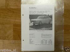 SUB02-SUBARU 1400 DL COACH, SEDAN,STATIONCAR 1975-1976