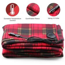 12V Electric Heater Blanket -Heated Travel Throw For Car Blanket Cover Safety CA