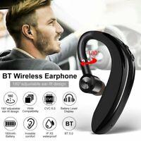 Bluetooth 5.0 Headphones Driving Calling Headset Handsfree Earphone Ear-hook Mic