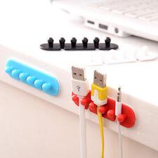 2Pcs Tidy Desk Drop Clip Organizer Cord Cable Ties Holder Line Fixer Winder
