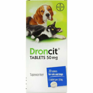 4 Droncit Tablets Cat And Dog Tapeworm DeWormer Worming Tablet - same day post