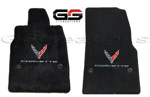 Ultimat Lloyd Floor Mats For 2020+ C8 Corvette Stingray Logos