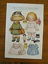 Original 1916 Dolly Dingle Of Dingle Dell paper doll-uncut-Grace Drayton