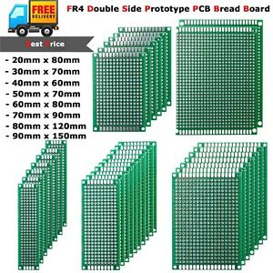 10x Universal FR4 Prototype PCB Bread Board Double Side Tinned 2x8cm - 9x15cm