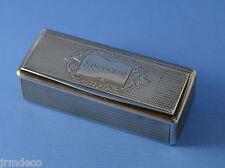 Tabatière argent massif boite à pilules à priser poinçon Minerve 80g /superbe