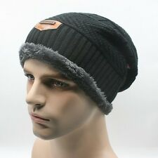 Men Women Winter Knit Crochet Slouch Ski Cap Beanie Warmer Thermal Ski Wear Hat