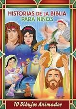 HISTORIAS DE LA BIBLIA PARA NINOS 10 DIBUJOS ANIMADOS DVD En Espanol - NEW