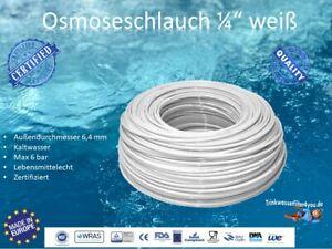 "Osmoseschlauch Osmoseleitung Weiß 1/4"" 6mm Umkehrosmose SBS Kühlschrank"