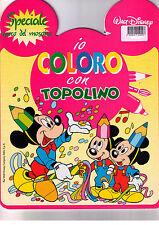 Io coloro con Topolino. Rosa - Walt Disney - Libro Nuovo in offerta!