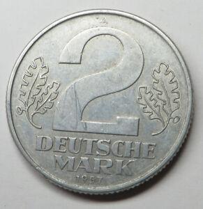 German-Democratic Republic 2 Mark 1957A Aluminum KM#14
