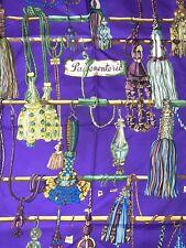 Hermes Passementerie Silk Scarf Shawl in Royal Purple 2007 VINTAGE ULTRA RARE