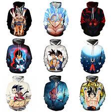 Dragonball Goku 3D Anime Kapuzen Sweatshirt Hoodie Pullover Top Cosplay Kostüm
