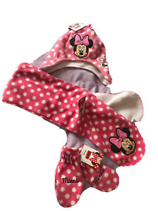 Minnie Mouse New Hat, Glove And Scarf Set