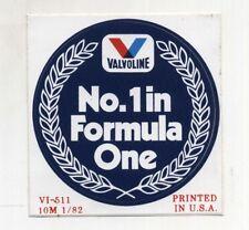Adesivo VALVOLINE No. 1 in FORMULA ONE 1  Pubblicità advertising sticker anni 80