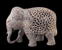 Estatua Elefante- Escultura De Piedra de la India Elefante CARVING-2460