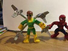 "Marvel Super Hero Adventures Spider Man 2007and  Doc Oc 2010 2"" Figures"