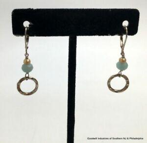 Sterling Cult Pearl Quartz Leverback Earrings